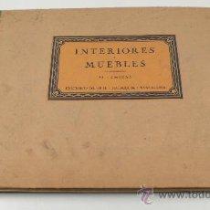Libros antiguos: INTERIORES Y MUEBLES. 30 LÁMINAS, ED. ADE ARTE, BARCELONA. 33X25 CM. . Lote 24755230