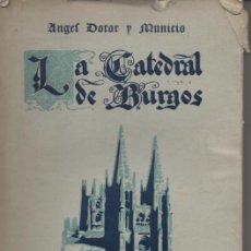Libros antiguos: LA CATEDRAL DE BURGOS . ANGEL DOTOR Y MUNICIO . EDITADO POR HIJOS DE SANTIAGO RODRIGUEZ AÑO 1928. Lote 26474667