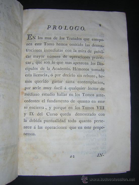 Libros antiguos: 1776 - BENITO BAILS - PRINCIPIOS DE MATEMATICA - TOMO III: ARQUITECTURA, PERSPECTIVA - 30 LAMINAS - Foto 3 - 27456955