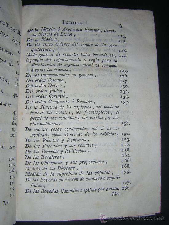 Libros antiguos: 1776 - BENITO BAILS - PRINCIPIOS DE MATEMATICA - TOMO III: ARQUITECTURA, PERSPECTIVA - 30 LAMINAS - Foto 5 - 27456955
