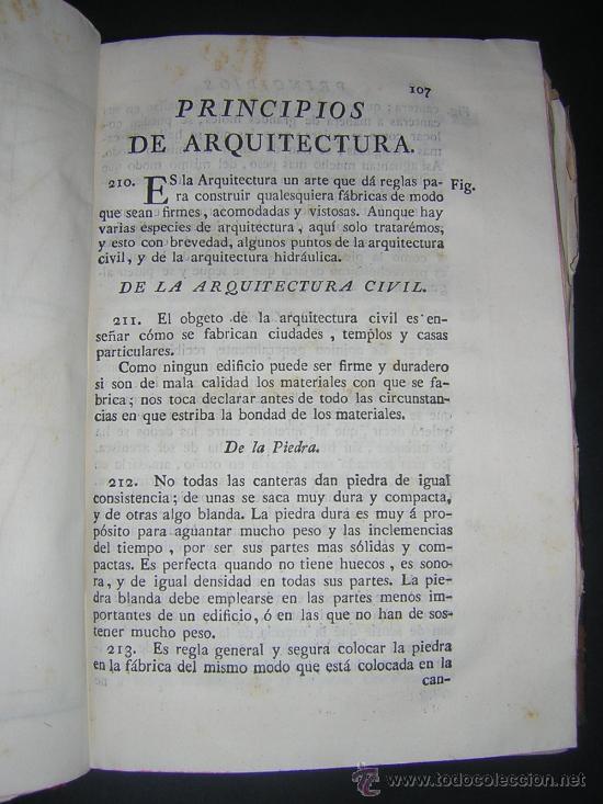 Libros antiguos: 1776 - BENITO BAILS - PRINCIPIOS DE MATEMATICA - TOMO III: ARQUITECTURA, PERSPECTIVA - 30 LAMINAS - Foto 11 - 27456955