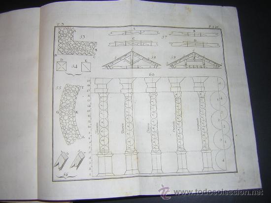 Libros antiguos: 1776 - BENITO BAILS - PRINCIPIOS DE MATEMATICA - TOMO III: ARQUITECTURA, PERSPECTIVA - 30 LAMINAS - Foto 12 - 27456955
