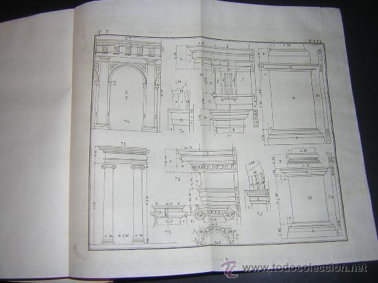 Libros antiguos: 1776 - BENITO BAILS - PRINCIPIOS DE MATEMATICA - TOMO III: ARQUITECTURA, PERSPECTIVA - 30 LAMINAS - Foto 13 - 27456955
