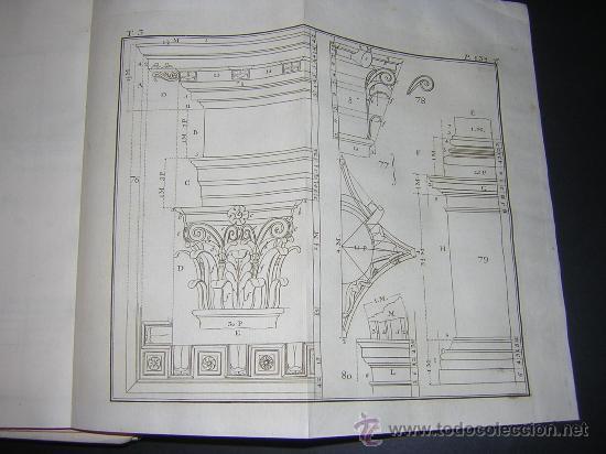 Libros antiguos: 1776 - BENITO BAILS - PRINCIPIOS DE MATEMATICA - TOMO III: ARQUITECTURA, PERSPECTIVA - 30 LAMINAS - Foto 14 - 27456955