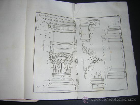 Libros antiguos: 1776 - BENITO BAILS - PRINCIPIOS DE MATEMATICA - TOMO III: ARQUITECTURA, PERSPECTIVA - 30 LAMINAS - Foto 15 - 27456955