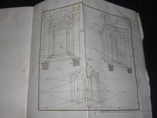 Libros antiguos: 1776 - BENITO BAILS - PRINCIPIOS DE MATEMATICA - TOMO III: ARQUITECTURA, PERSPECTIVA - 30 LAMINAS - Foto 21 - 27456955