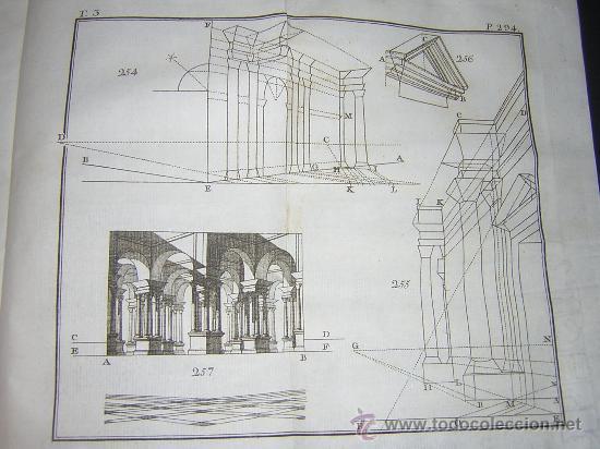 Libros antiguos: 1776 - BENITO BAILS - PRINCIPIOS DE MATEMATICA - TOMO III: ARQUITECTURA, PERSPECTIVA - 30 LAMINAS - Foto 23 - 27456955