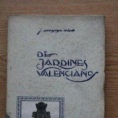Libros antiguos: ELEMENTOS PARA EL ESTUDIO HISTÓRICO DE LA JARDINERÍA VALENCIANA. CARRASCOSA CRIADO (J.). Lote 26546819