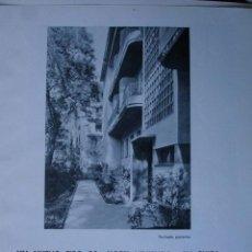 Libros antiguos: HOTEL VIVIENDA EN SUIZA.ARQUITECTO WALDER&DOEBELI.PG 281-287. Lote 28336002