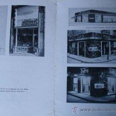 Libros antiguos: PROYECTO TIENDA ARQUITECTO GARCIA MERCADAL.2 PG. Lote 28336016