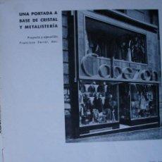 Libros antiguos: MADRID CAMISERIA CABEZON ARQUITECTO FRANCISCO FERRER 1H. Lote 28336023