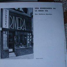 Libros antiguos: MADRID BOMBONERIA RIVIERA,ARQUITECTO GUTIERREZ MANCHON.1H. Lote 28336033