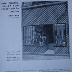 Libros antiguos: MADRID CAMISERIA BEN HUR,ARQUITECTO GERMAN FABRA.1H. Lote 28336037