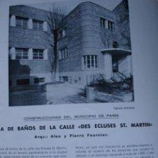 Libros antiguos: CASA BAÑOS DES ECLUSES ST MARTIN.ARQUITECTO ALEX Y P FOURNIER.PG 444-466. Lote 28336363