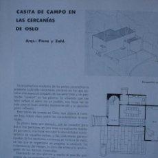 Libros antiguos: CASA CERCANIAS DE OSLO.ARQUITECTO PIENE Y ZAHL PG 435-437. Lote 28336375