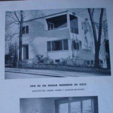 Libros antiguos: HOGAR MODERNO EN OSLO.ARQUITECTO HENRIK NISSEN,BRYNNING.PG 431-433. Lote 28336390
