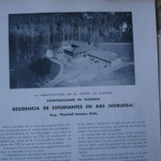Libros antiguos: RESIDENCIA ESTUDIANTES EN AAS,NORUEGA.ARQUITECTO THORLEIF JENSEN PG 421-430. Lote 28336402