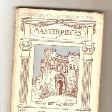 Libros antiguos: MASTERPIECES OF SPANISH ARCHITECTURE. Lote 29402146