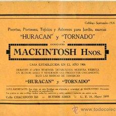 Libros antiguos: MACKINTOSH HNOS. - CATÁLOGO DE CARPINTERÍA METÁLICA (C. 1930). Lote 30190166
