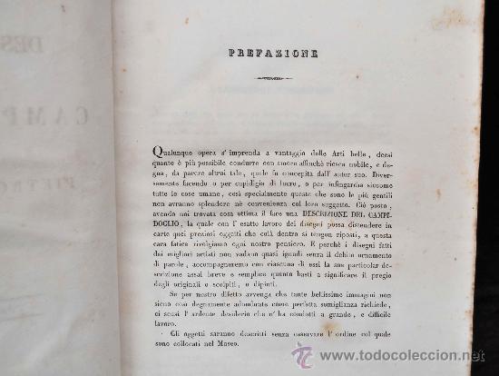 Libros antiguos: DESCRIZIONE DEL CAMPIDOGLIO DE RIGHETTI PIETRO. 2 VOLUMI. 1833 e 1836. di museo! - Foto 34 - 30412909