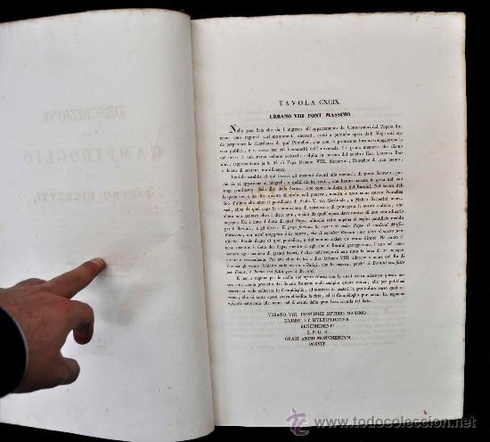 Libros antiguos: DESCRIZIONE DEL CAMPIDOGLIO DE RIGHETTI PIETRO. 2 VOLUMI. 1833 e 1836. di museo! - Foto 12 - 30412909