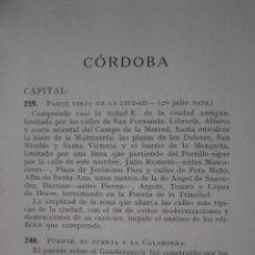 Libros antiguos: CORDOBA Y SU PROVINCIA.MONUMENTOS HISTORICOS ARTISTICOS.1932.PG 191-212 8ª. Lote 31347226