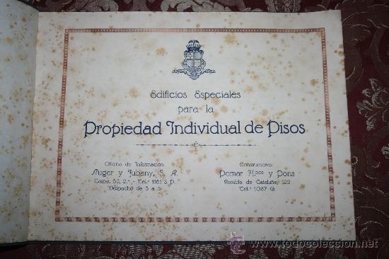 Libros antiguos: 1897- PRECIOSO ÁLBUM EDIFICIOS ESPECIALES PARA LA PROPIEDAD INDIVIDUAL DE PISOS POMAR HNOS - Foto 2 - 31904217