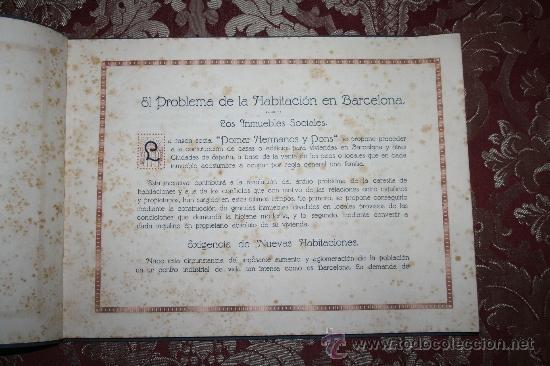 Libros antiguos: 1897- PRECIOSO ÁLBUM EDIFICIOS ESPECIALES PARA LA PROPIEDAD INDIVIDUAL DE PISOS POMAR HNOS - Foto 3 - 31904217