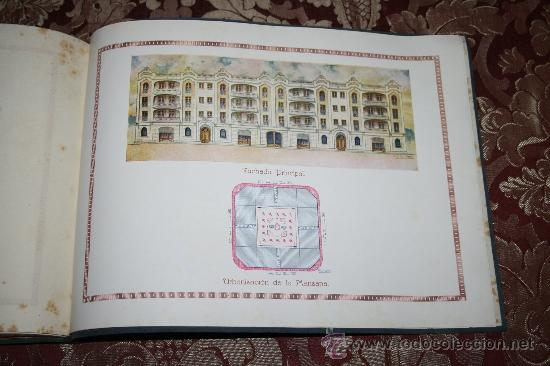Libros antiguos: 1897- PRECIOSO ÁLBUM EDIFICIOS ESPECIALES PARA LA PROPIEDAD INDIVIDUAL DE PISOS POMAR HNOS - Foto 8 - 31904217