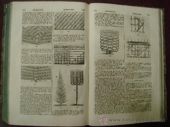 Libros antiguos: Diccionario de Artes y Manufacturas, de Agricultura, de Minas. 1856 – 57, 4 Tomos - Foto 3 - 32332776