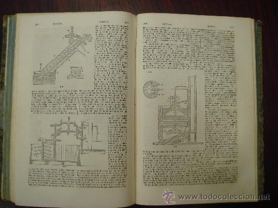 Libros antiguos: Diccionario de Artes y Manufacturas, de Agricultura, de Minas. 1856 – 57, 4 Tomos - Foto 4 - 32332776
