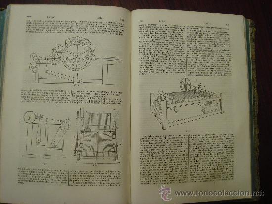 Libros antiguos: Diccionario de Artes y Manufacturas, de Agricultura, de Minas. 1856 – 57, 4 Tomos - Foto 5 - 32332776