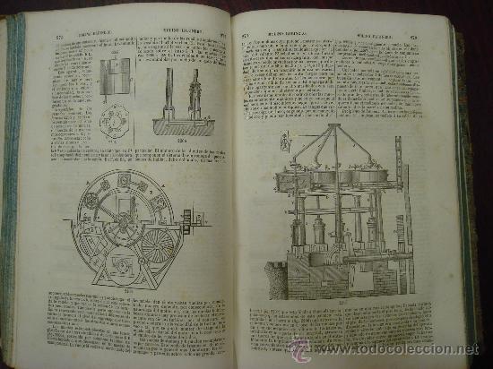 Libros antiguos: Diccionario de Artes y Manufacturas, de Agricultura, de Minas. 1856 – 57, 4 Tomos - Foto 7 - 32332776