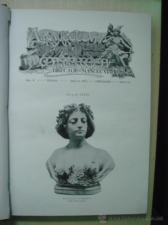 Libros antiguos: ARQUITECTURA Y CONSTRUCCION. 1902-1905 y 1908-1911, 8 Tomos, revista mensual - Foto 2 - 32332949