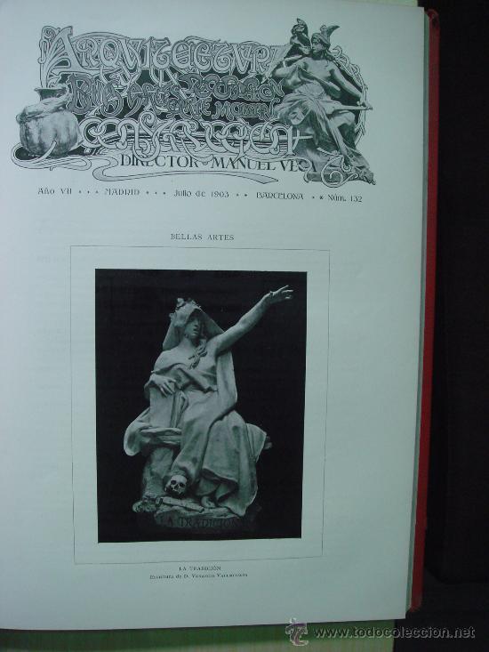 Libros antiguos: ARQUITECTURA Y CONSTRUCCION. 1902-1905 y 1908-1911, 8 Tomos, revista mensual - Foto 4 - 32332949