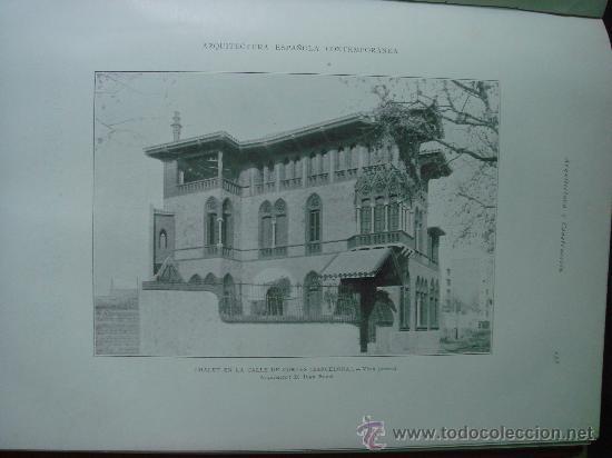 Libros antiguos: ARQUITECTURA Y CONSTRUCCION. 1902-1905 y 1908-1911, 8 Tomos, revista mensual - Foto 5 - 32332949