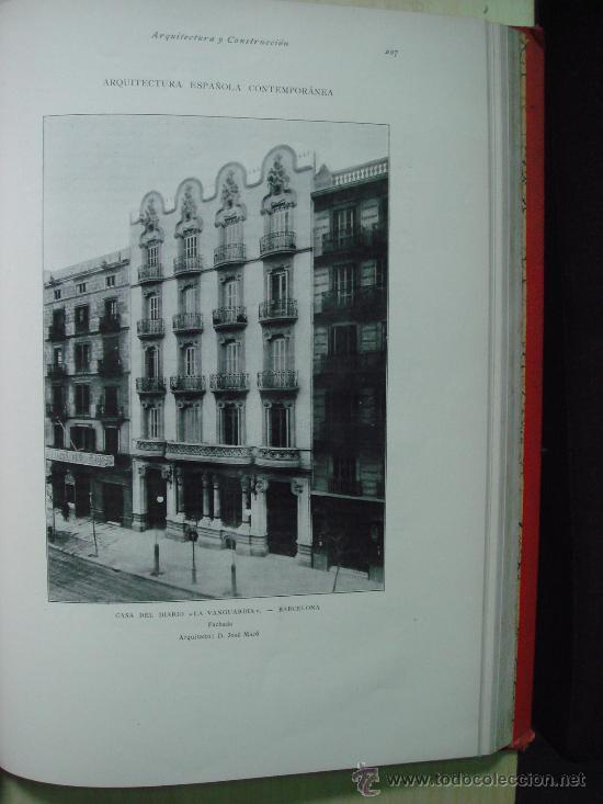 Libros antiguos: ARQUITECTURA Y CONSTRUCCION. 1902-1905 y 1908-1911, 8 Tomos, revista mensual - Foto 7 - 32332949