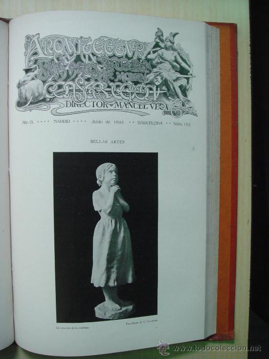 Libros antiguos: ARQUITECTURA Y CONSTRUCCION. 1902-1905 y 1908-1911, 8 Tomos, revista mensual - Foto 8 - 32332949