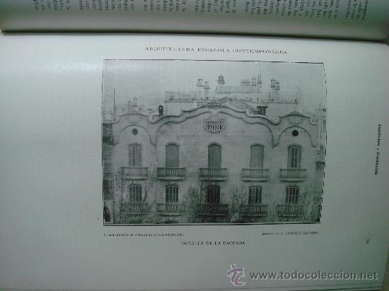 Libros antiguos: ARQUITECTURA Y CONSTRUCCION. 1902-1905 y 1908-1911, 8 Tomos, revista mensual - Foto 10 - 32332949