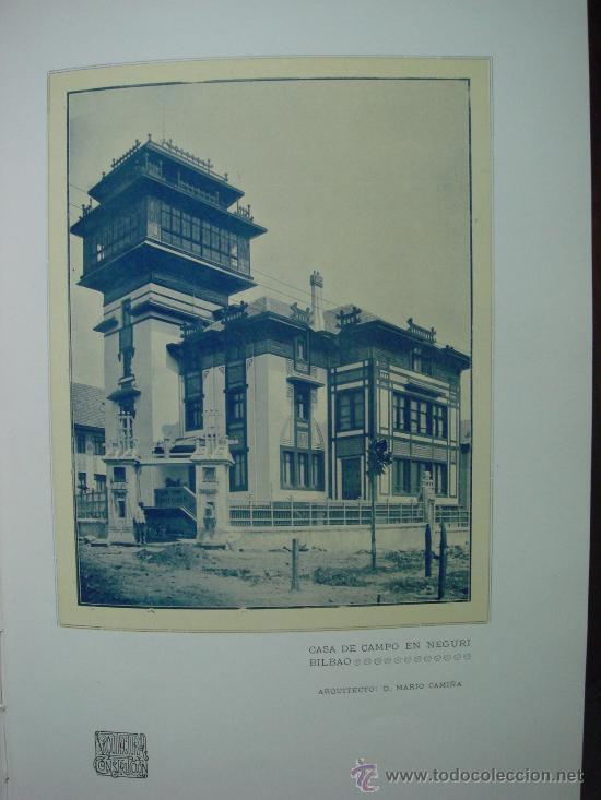 Libros antiguos: ARQUITECTURA Y CONSTRUCCION. 1902-1905 y 1908-1911, 8 Tomos, revista mensual - Foto 12 - 32332949