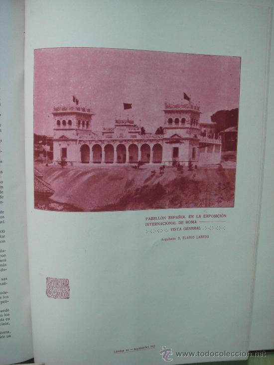 Libros antiguos: ARQUITECTURA Y CONSTRUCCION. 1902-1905 y 1908-1911, 8 Tomos, revista mensual - Foto 14 - 32332949