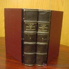 Libros antiguos: L'ARCHITETTURA DEL QUATTROCENTO. 1923-24, 2 VOL.. Lote 32409511