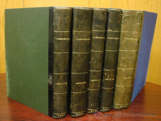 L' ARCHITECTURE, 1934-37, 5 TOMOS, REVISTA MENSUAL (Libros Antiguos, Raros y Curiosos - Bellas artes, ocio y coleccion - Arquitectura)