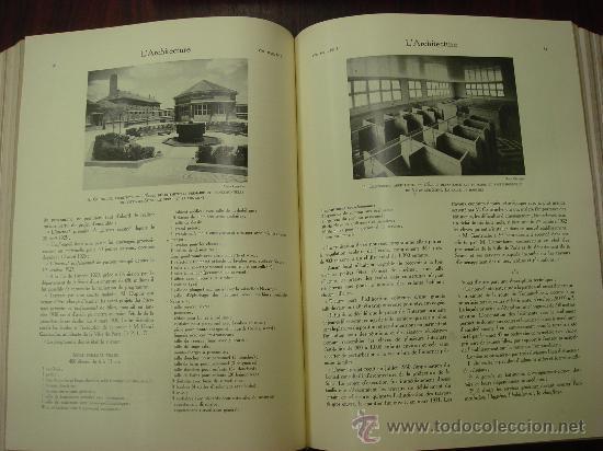 Libros antiguos: L ARCHITECTURE, 1934-37, 5 Tomos, revista mensual - Foto 6 - 32451017