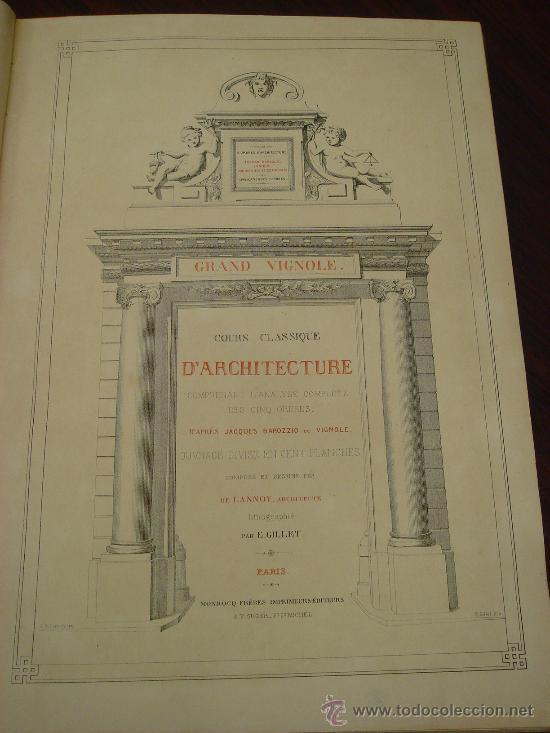 REGOLA DELLI CINQUE ORDINI D'ARCHITETTURA, 1773, I.BAROZZIO DA VIGNOLA (Libros Antiguos, Raros y Curiosos - Bellas artes, ocio y coleccion - Arquitectura)