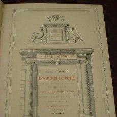 Libros antiguos: REGOLA DELLI CINQUE ORDINI D'ARCHITETTURA, 1773, I.BAROZZIO DA VIGNOLA. Lote 32785815