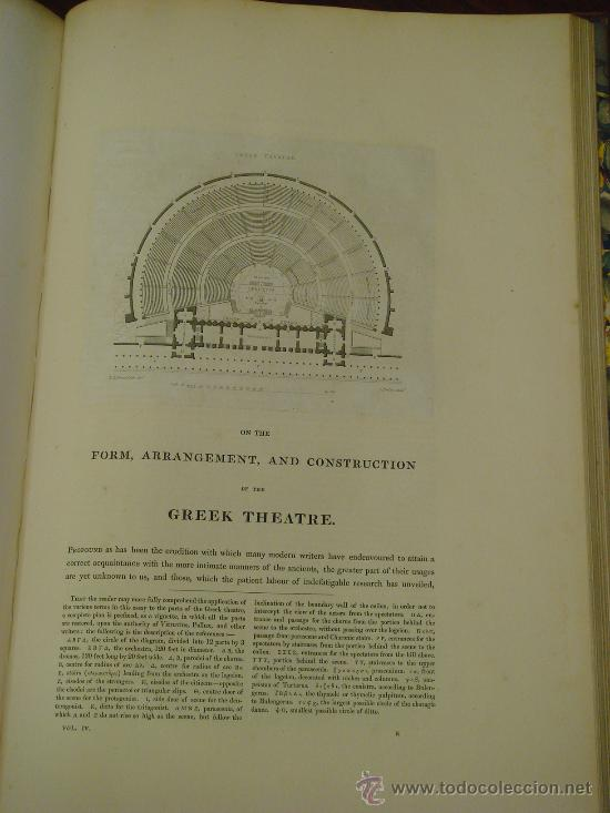 Libros antiguos: THE ANTIQUITIES OF ATHENS, 1825-30, 4 Vol., Measured And Delineated By J. Stuart F.R.S. F.S.A., - Foto 38 - 32786099