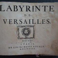 Libros antiguos: 'LABYRINTE DE VERSAILLES' AMSTERDAM 1693 -32 GRABADOS DE 39- ¡¡¡RARISIMO!!!. Lote 32825805
