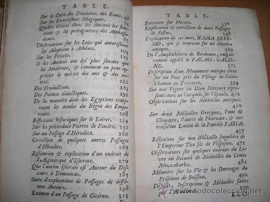 Libros antiguos: Histoire de L´Academie Royale des Inscriptions et Belles-Lettres, tomo VI, 1743, Contiene 9 grabados - Foto 3 - 33227460