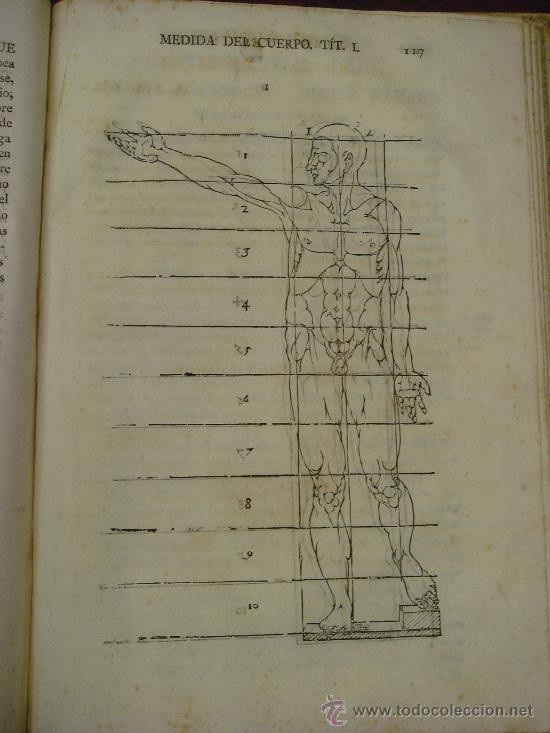 Libros antiguos: VARIA COMMENSURACION PARA LA ESCULTURA, Y ARQUITECTURA. 1795, Juan de Arphe y Villafañe - Foto 8 - 33220192